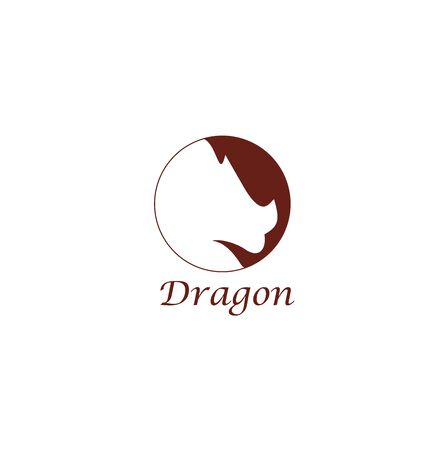 silhouette illustration of a dragons head for business or web logos