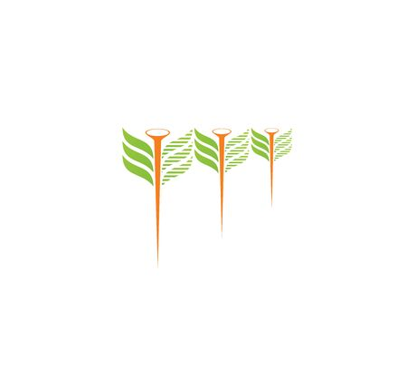 needles and leaves for business logos
