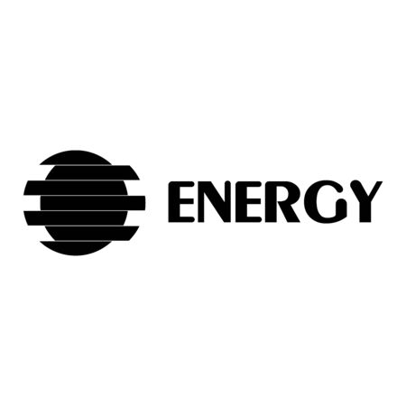The energy logo of the circle forms the letter E