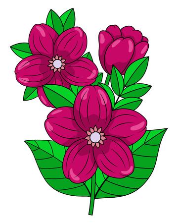a sprig: Flower composition on a white background Illustration