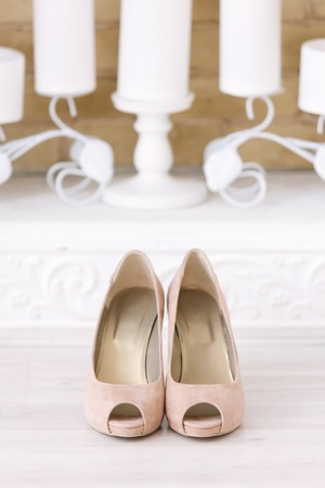 Beautiful of the bride beige shoes