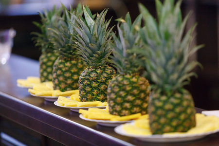 pineapples on a holiday table