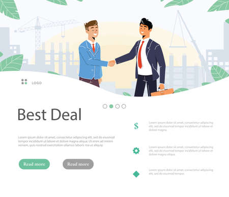 Handshake Business Agreement. Successful Partnership, Cooperation vector Illustration