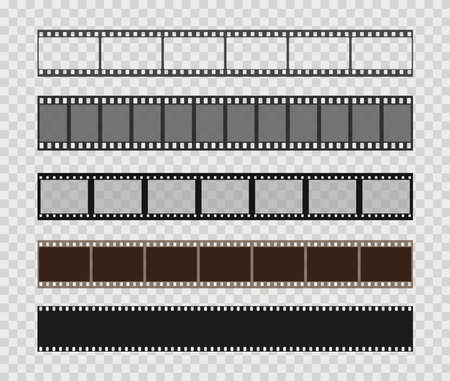Film strip templates. Creative vector illustration of old retro film strip frame set. Abstract concept graphic element. Vector illustration