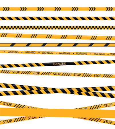 Creative Police line black and yellow stripe border. Yellow taped warning danger police stripes crime safety line attention border barrier