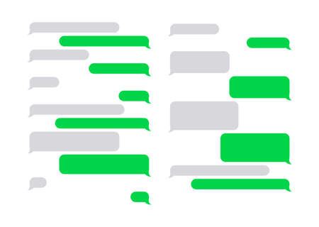 Message bubbles chat vector. Chat speech bubbles in a flat design. Collection of chat speech bubbles. Place your own text to the message clouds