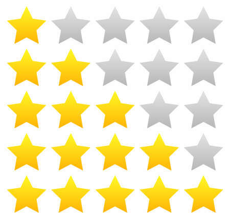 5 star rating icon vector illustration eps10. Isolated Vector Illustration