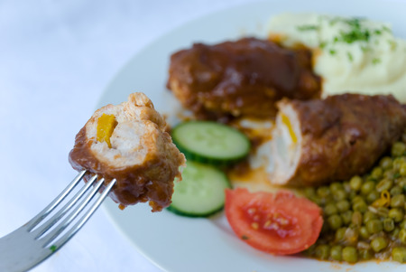 serbian: rolled spices of pork with stuffing 1