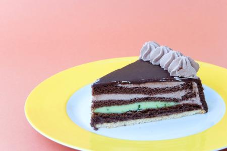 marzipan-pistachio-chocolate pie photo
