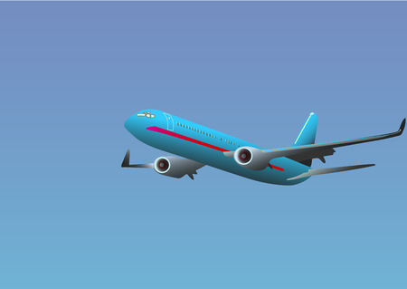 an big airliner in air Illustration