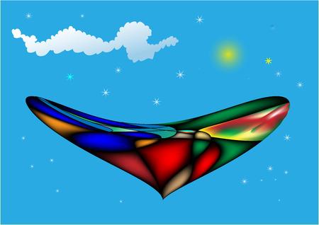UFO on the sky Vector