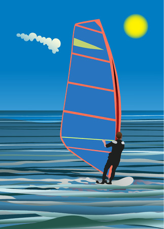 windsurfing: windsurfing Illustration