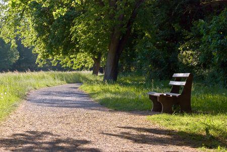 no correr: Park en el verano