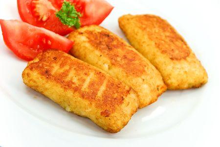 dumpling with mozzarella cheese Stock Photo - 3431589