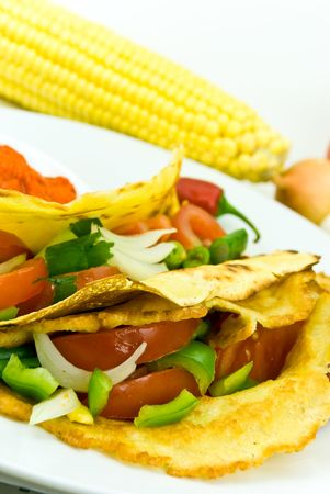 tortilla vegetable photo