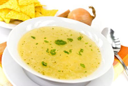 Soupe au poulet savoureux