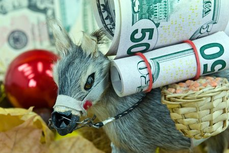 apparently: donkey with big money