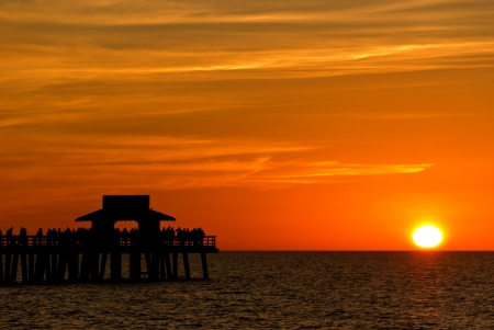 Sunset in Naples,Florida