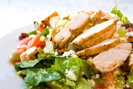 delicatessen caesar salad with smoked turkey