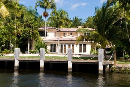 Waterfront mansion photo