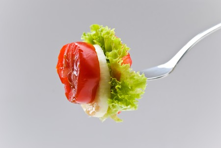 morsel: a delicious morsel of cheesesalad and vegetables