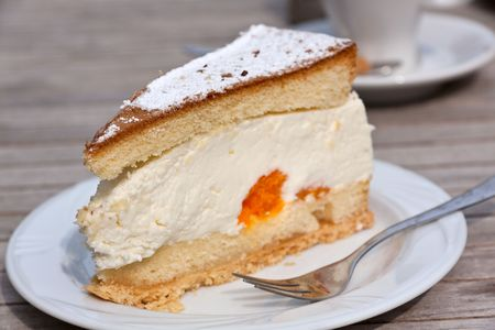 A Tangerine Cream Pie on the table photo