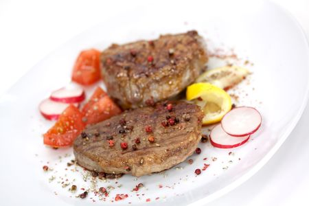 Strip Steak with vegetables Stock Photo - 4840672