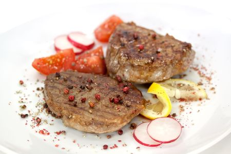 Strip Steak with vegetables Stock Photo - 4840675
