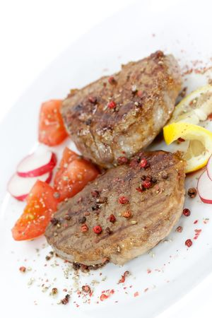 Strip Steak with vegetables Stock Photo - 4840678