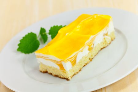 food series: mango fancy cake with yellow fruit jelly Stock Photo - 4904511