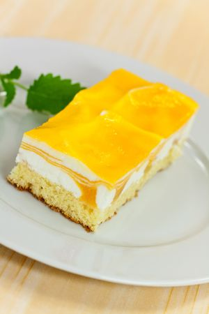 food series: mango fancy cake with yellow fruit jelly Stock Photo - 4904512