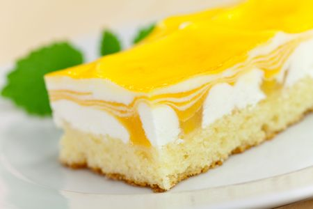 food series: mango fancy cake with yellow fruit jelly Stock Photo - 4904516