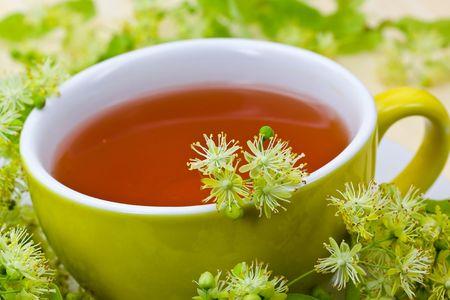 Fresh Tea of lime blossom - Tilia platyphyllos photo