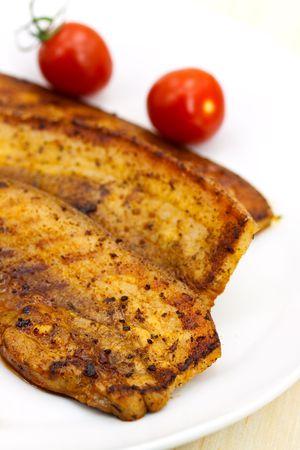 belly pepper: Roasted Belly of Pork with cherry tomatoes