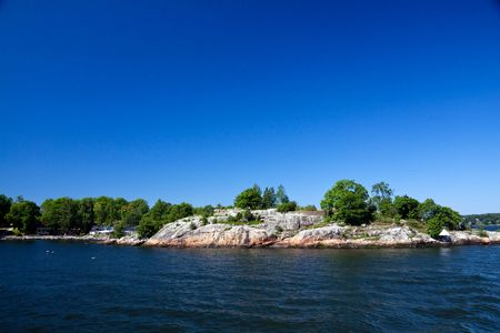 Lonely island in Sweden,Stockholm Archipelago Stock Photo
