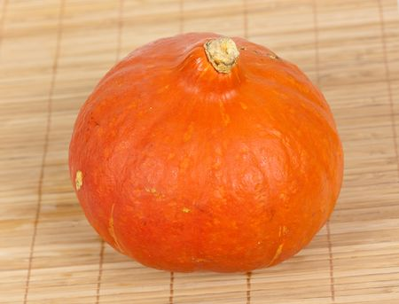pumpkin on the wooden background photo
