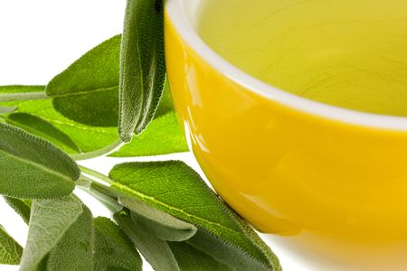 Tea of Sage Plant,isolated Stock Photo - 5539048