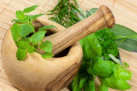 Sage,Basil,Parsley and Mint,isolated on white Stock Photo - 5539050