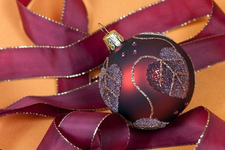red christmas bauble of glass Stock Photo - 5819806