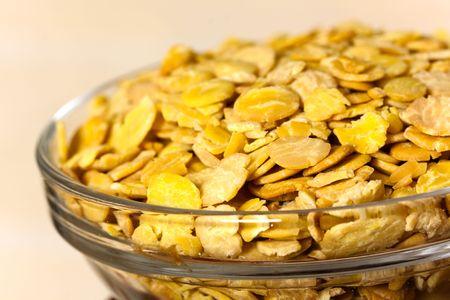 soja: fiocchi di soia nella ciotola