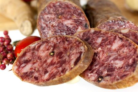 air dried salami: Pepper Salami with garlic