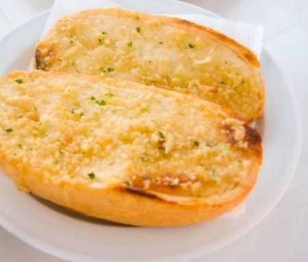 Breakfast,Gourmet italian Bun, - Bruschetta ,with Salad Stock Photo