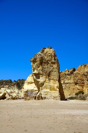 praia: praia da rocha beach,portugal-algarve Stock Photo
