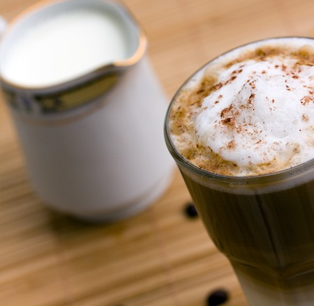 deposed: Latte Macchiato Stock Photo