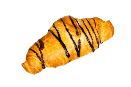 chocolate croissant isolated on white Stock Photo - 8738452