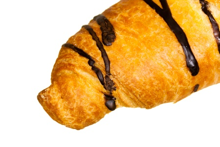 chocolate croissant isolated on white Stock Photo - 8738463