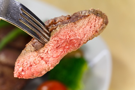 New York Strip Steak with Vegetables