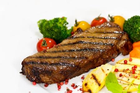Gourmet Steak with Broccoli,Cherry Tomato