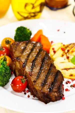 Gourmet Steak with Broccoli,Cherry Tomato Stock Photo - 10644277