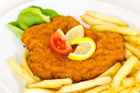 Schnitzel-Escalope- with French Fries